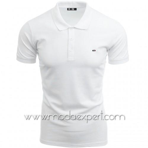 Мъжка тениска с яка №14200-W