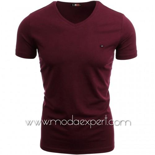 Тениска с V-образно деколте №14222-C