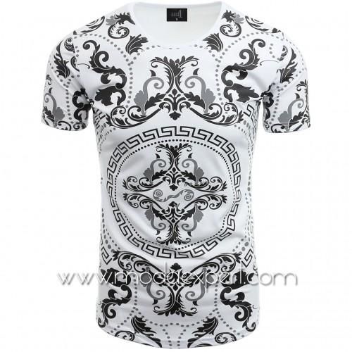 Мъжка тениска с орнаменти №14235-W