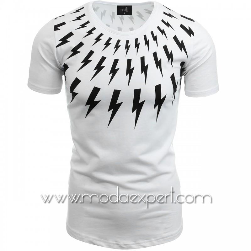 Мъжка тениска с щампа №14239-W