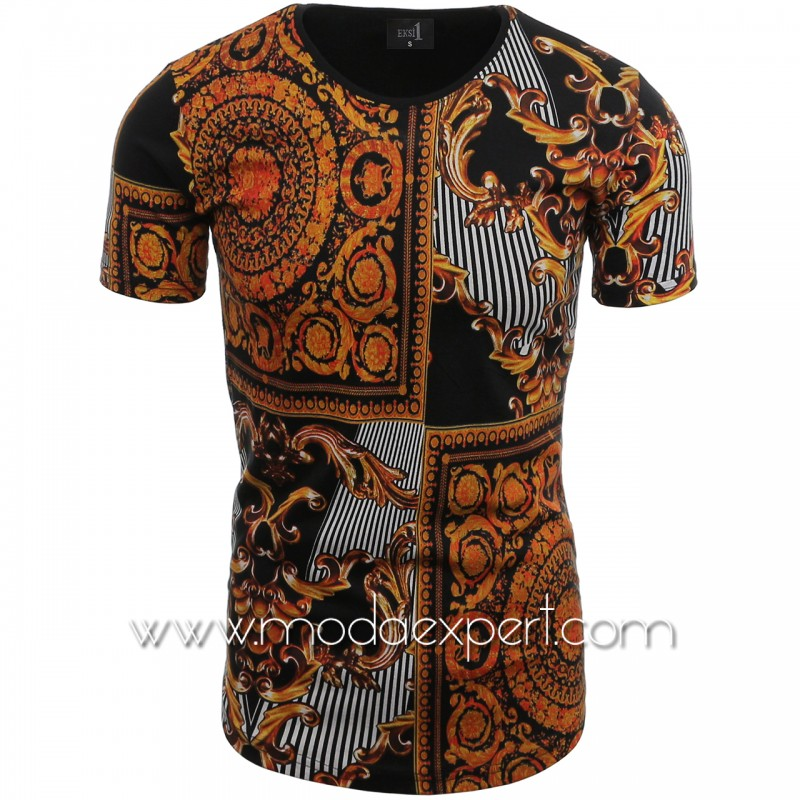Мъжка тениска с щампи №14240-B