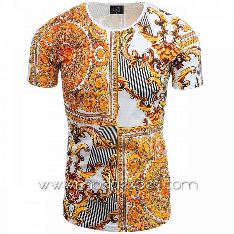 Мъжка тениска с щампи №14240-W