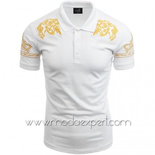 Мъжка тениска с бродерии №14245-W