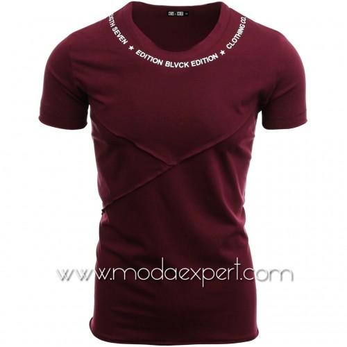 Мъжка тениска без подгъв №14292-C