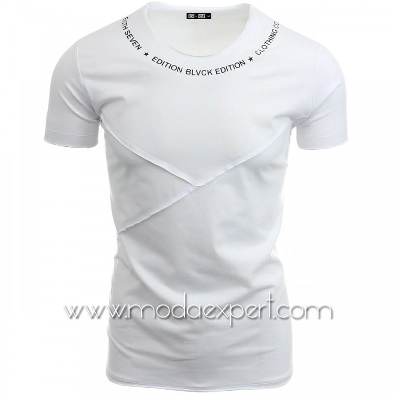 Мъжка тениска без подгъв №14292-W