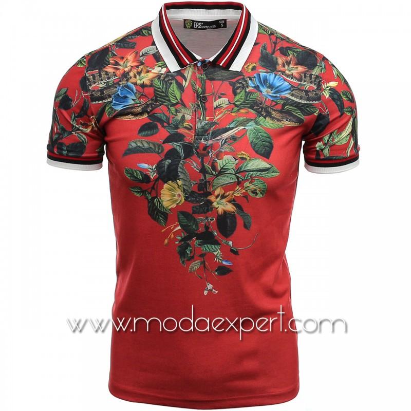 Мъжка тениска с яка №14303-R