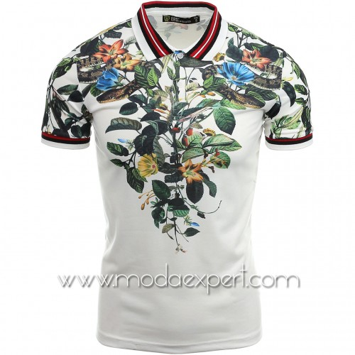 Мъжка тениска с яка №14303-W