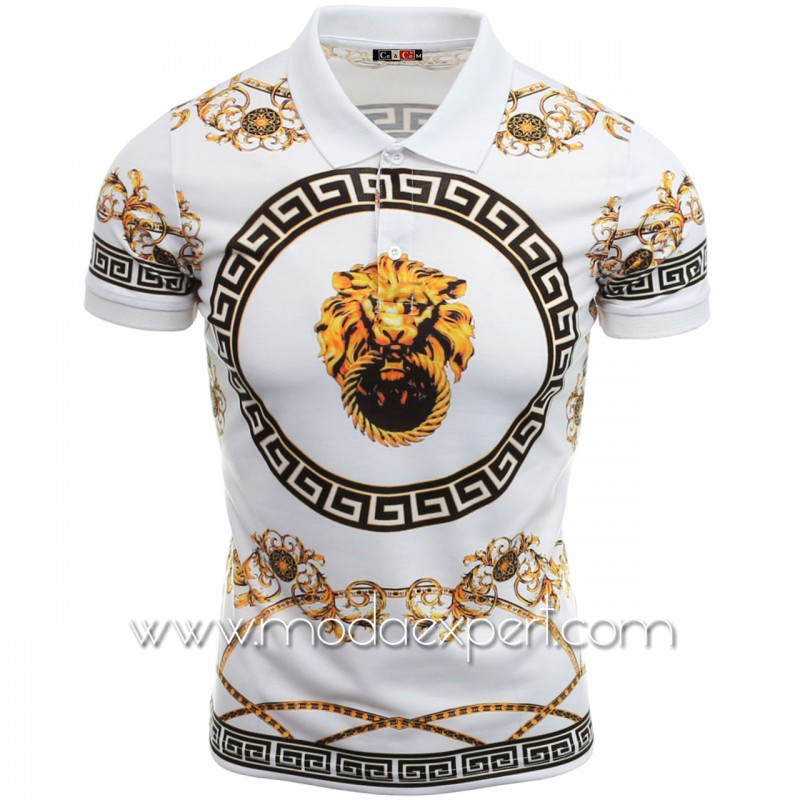 Мъжка тениска с яка №14405