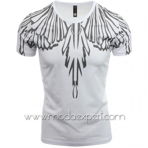 Тениска със сребриста щампа №14412-W