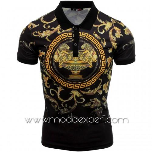 Мъжка тениска с яка №14407