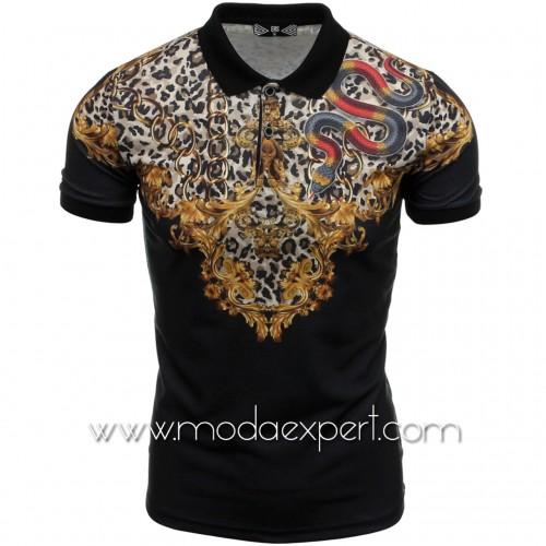 Мъжка тениска с яка №14430