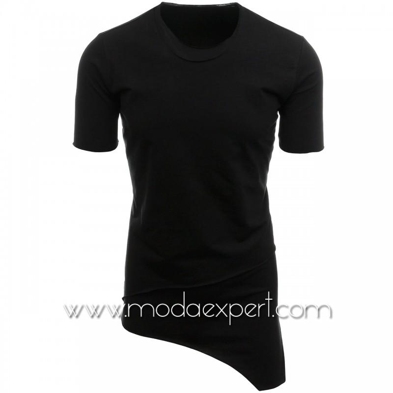 Асиметрична тениска без подгъв №14433-B