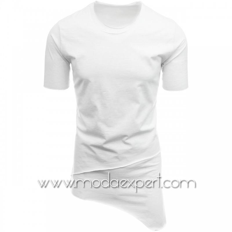 Асиметрична тениска без подгъв №14433-W