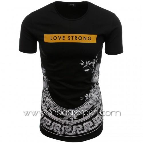 Мъжка тениска без подгъв №14436-B