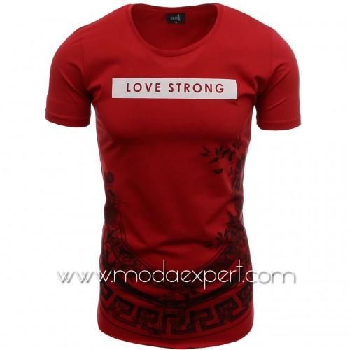 Мъжка тениска без подгъв №14436-R
