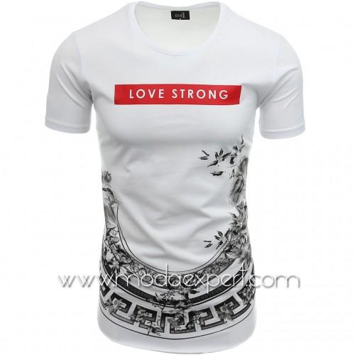 Мъжка тениска без подгъв №14436-W