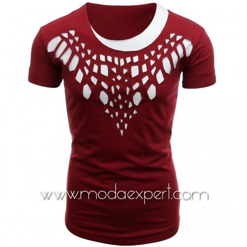 Мъжка тениска с прорези №14440-R