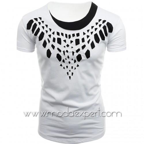 Мъжка тениска с прорези №14440-W