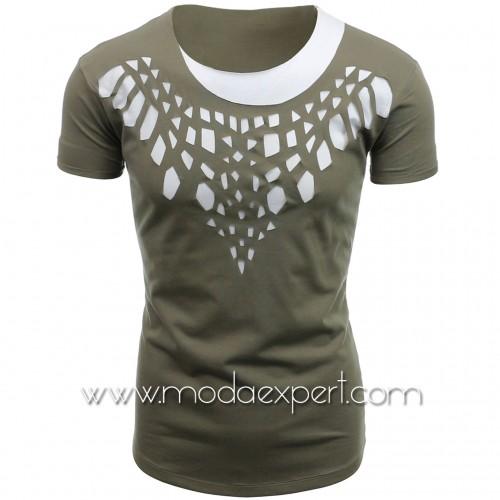 Мъжка тениска с прорези №14440-Z