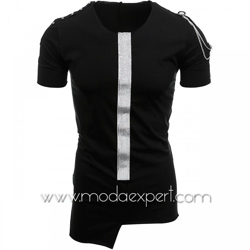 Асиметрична тениска с лента №14443-B