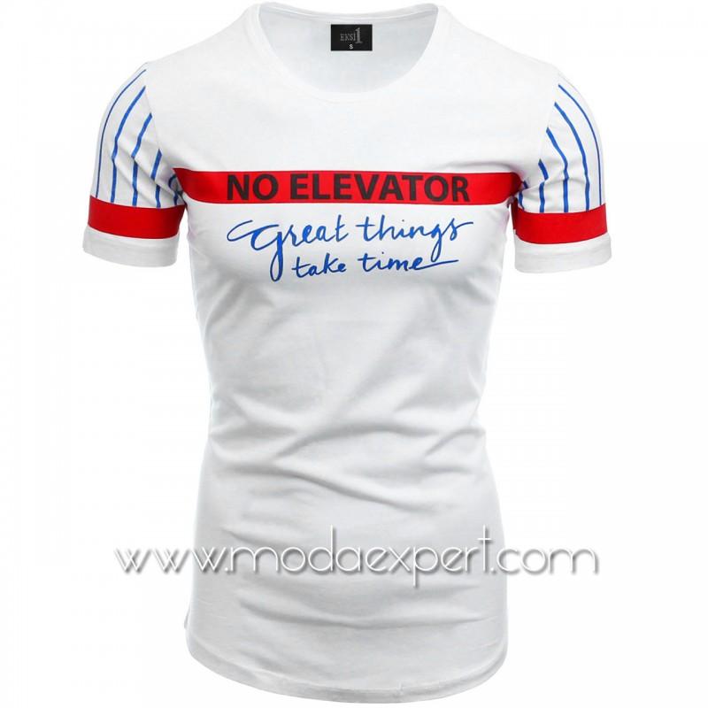 Мъжка тениска с щампи №14455-W
