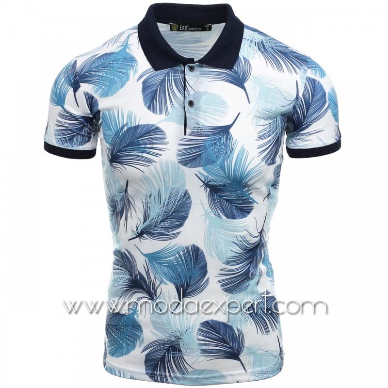 Тениска с яка с пера №14458
