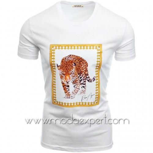 Мъжка тениска с щампа №14466-W
