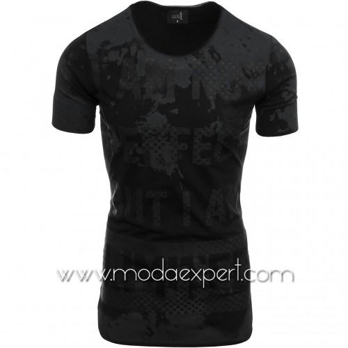 Мъжка издължена тениска №14497-B