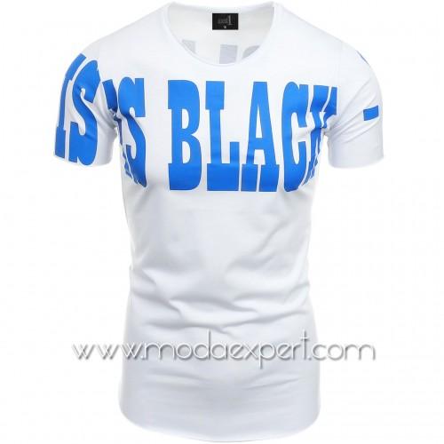 Мъжка тениска с щампи №14499-W