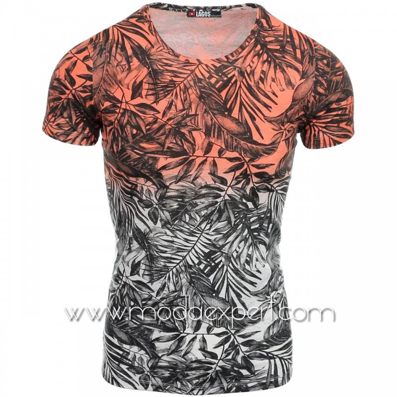 Мъжка  тениска Leaves №14505-O