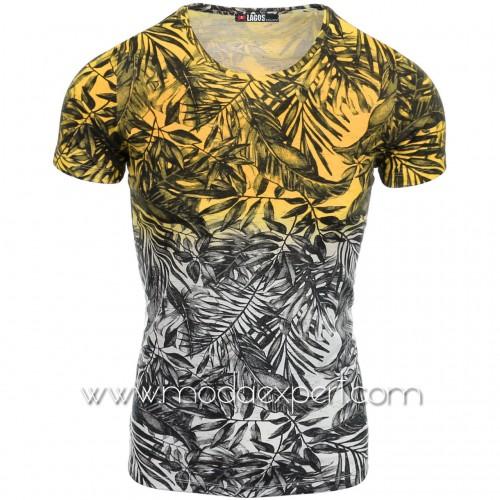 Мъжка  тениска Leaves №14505-Y
