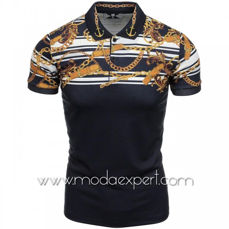 Мъжка тениска с яка №14560-B