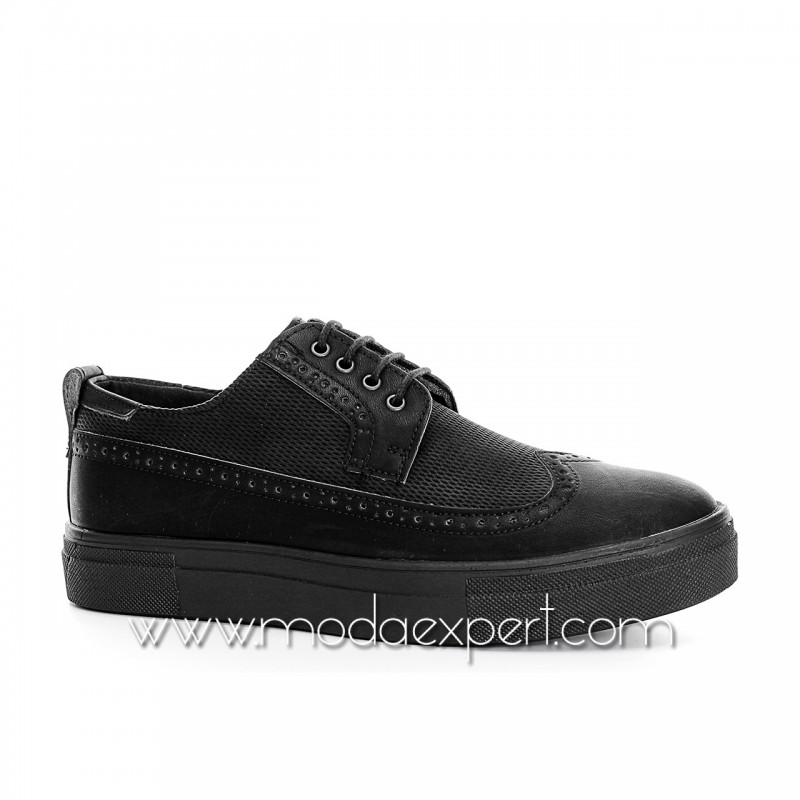 Черни спортно-елегантни обувки №408-B