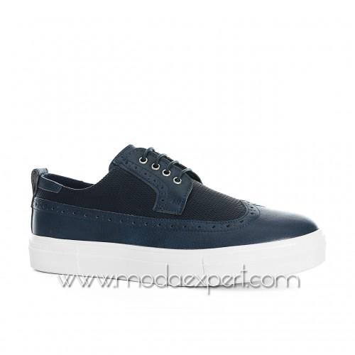 Сини спортно-елегантни обувки №408-S