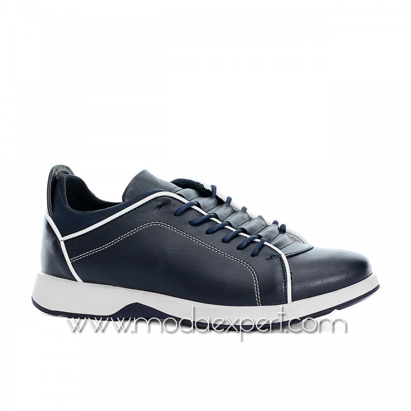 Сини спортни мъжки обувки №470-S