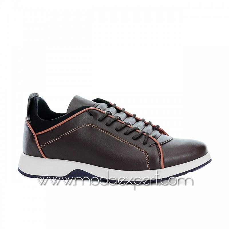 Кафяви спортни мъжки обувки №470-K