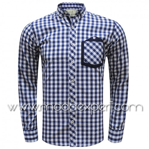 Бяла карирана риза №792