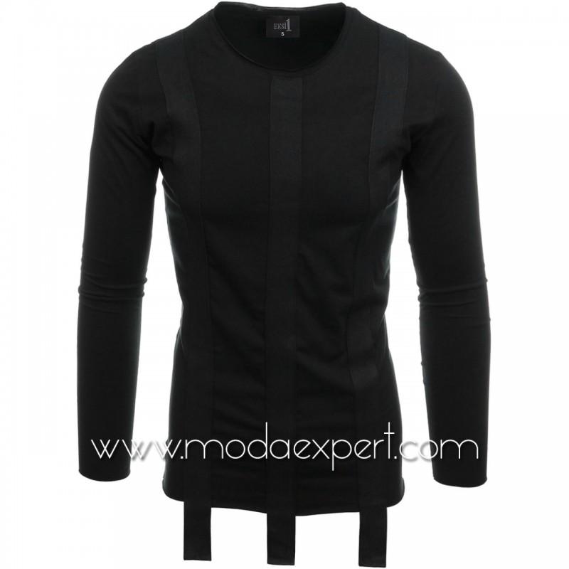 Блуза с декоративни ленти №E2511-B
