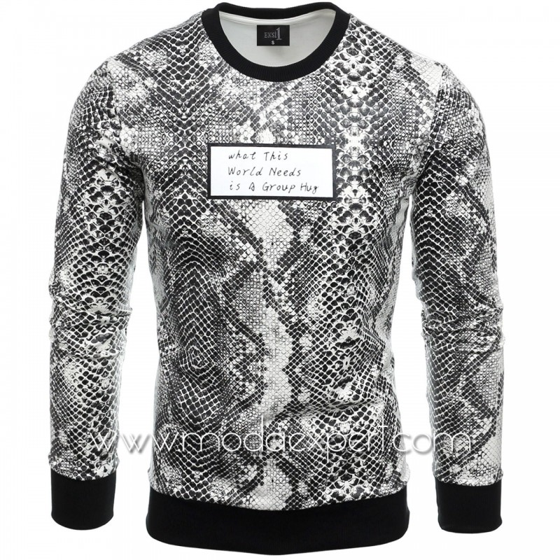 Блуза със змийски десен №E2564-W