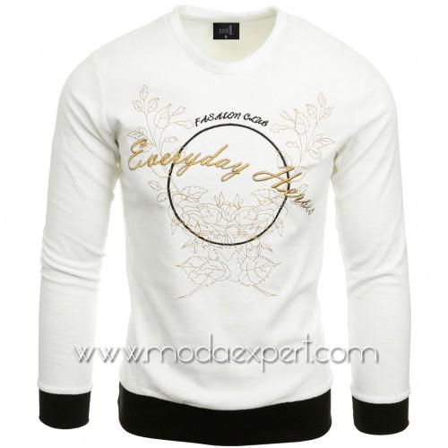 Мъжка блуза с бродерии №E2572-E