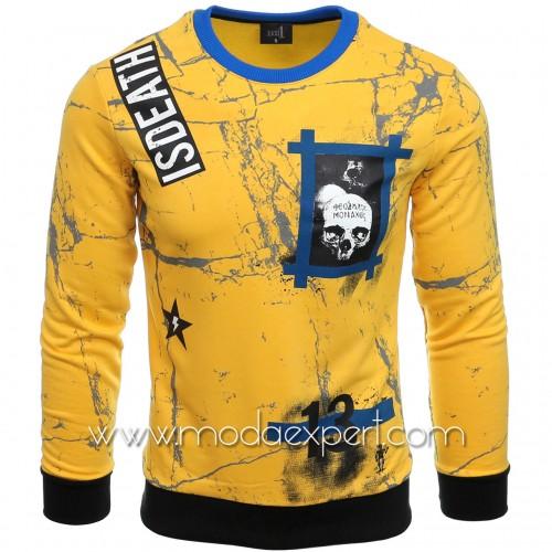 Мъжка блуза с щампи №E2595-Y
