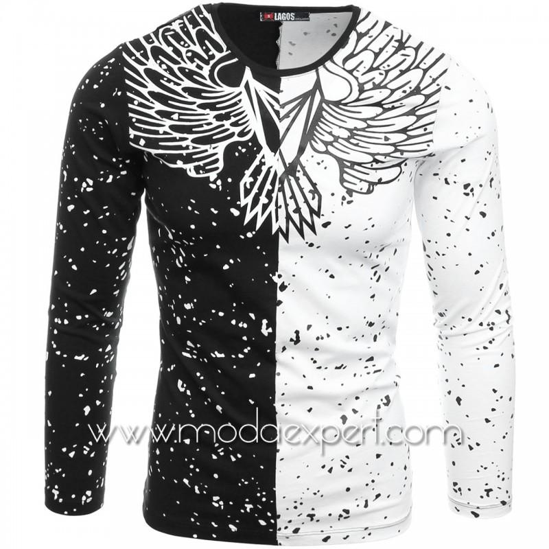 Мъжка блуза с щампи №L19879