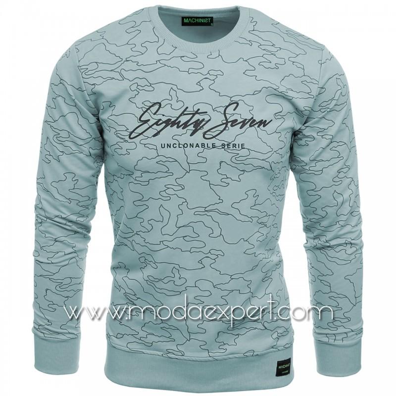 Мъжка блуза с релефна щампа №M2106-SP