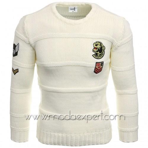 Пуловер с апликации №E3582-E