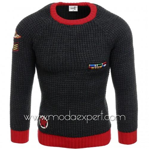 Пуловер с бродерии №E3583-A