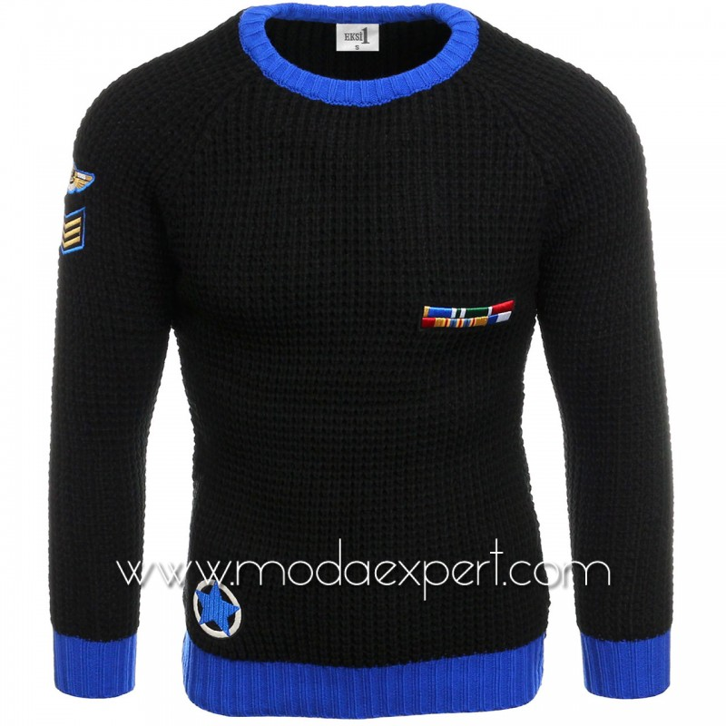 Пуловер с бродерии №E3583-B