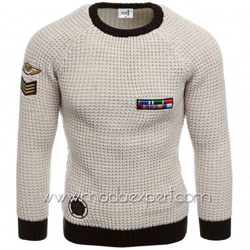 Пуловер с бродерии №E3583-K