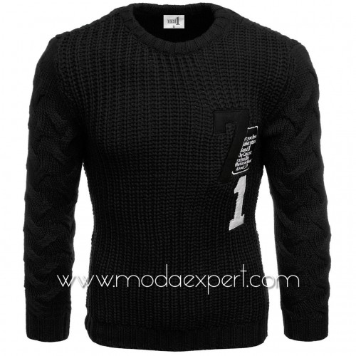 Пуловер с апликации №E3584-B