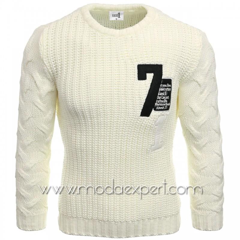 Пуловер с апликации №E3584-E