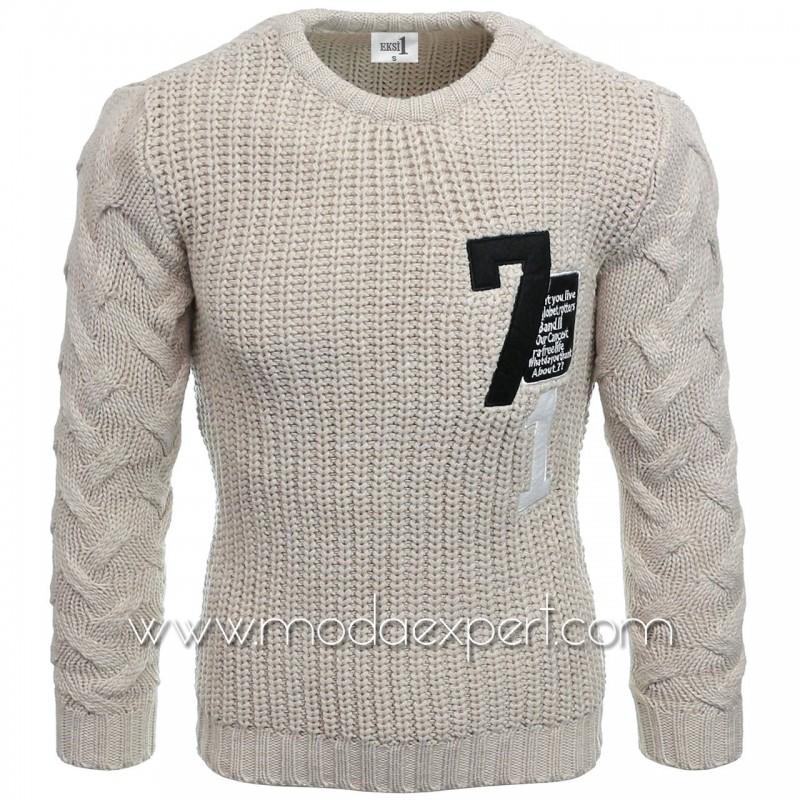 Пуловер с апликации №E3584-K